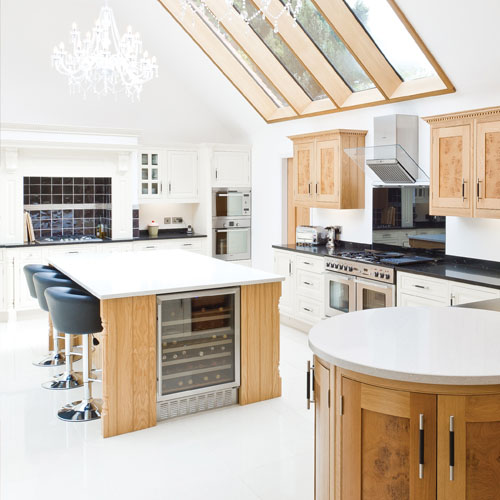 Grantham Kitchen with skylights